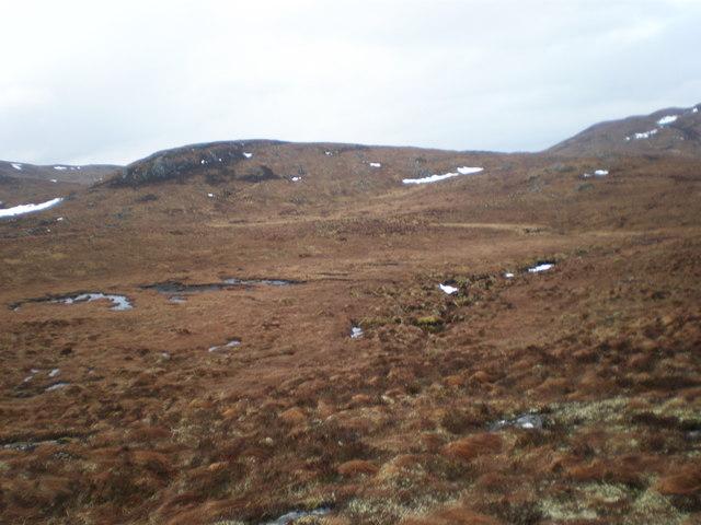 Moorland watershed  above Loch Carn Tuairneir Beag