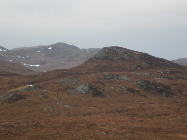 Lookink over Carn Loch a' Bhothain from Carn a' Mheallain Odhair