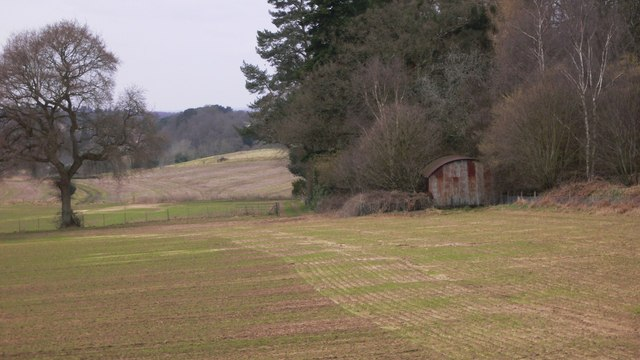 Barn in field corner