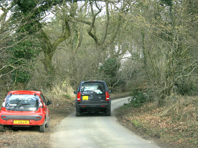 2009 : Traffic on the lane near Pitter's Farm