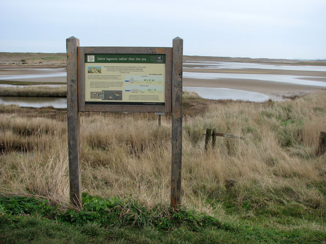Information board beside path