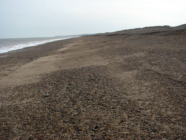 View east along the beach below Salthouse