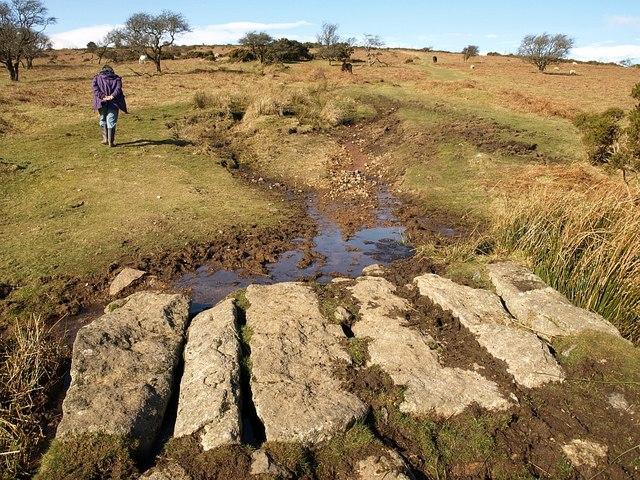 Sandy Way crossing Wheal Emma Leat (2)