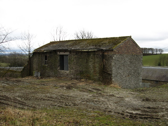 Derelict  cottage type building at Clerklands