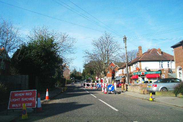 Roadworks on Hastings Road