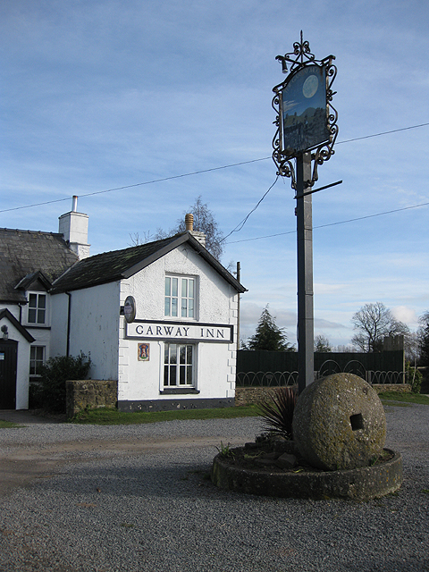 Pub sign at The Garway Moon Inn