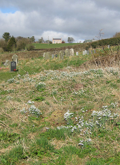 Hillside churchyard, view North