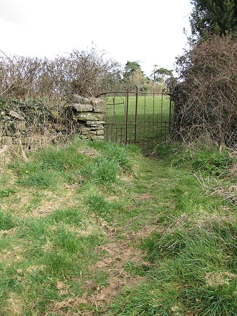 Kissing gate leaving the churchyard