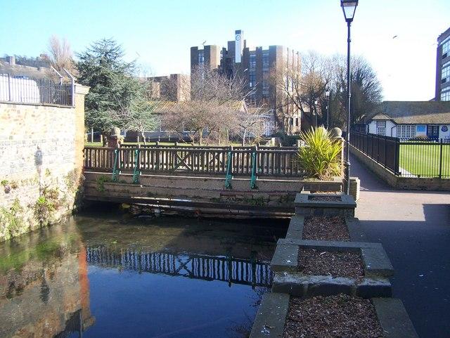 Footbridge over River Dour