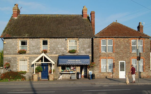Butchers shop, Shipham, Somerset