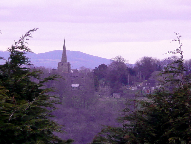 Linton church from Bromsash