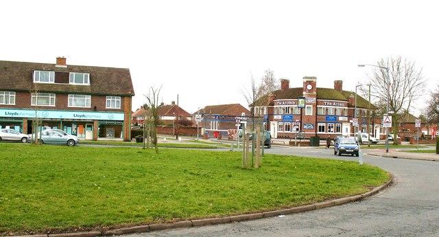 Across Green Lane roundabout