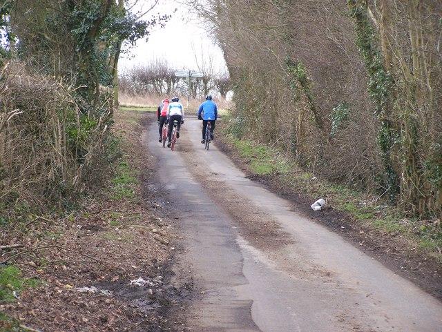 Cyclists on Flint Lane