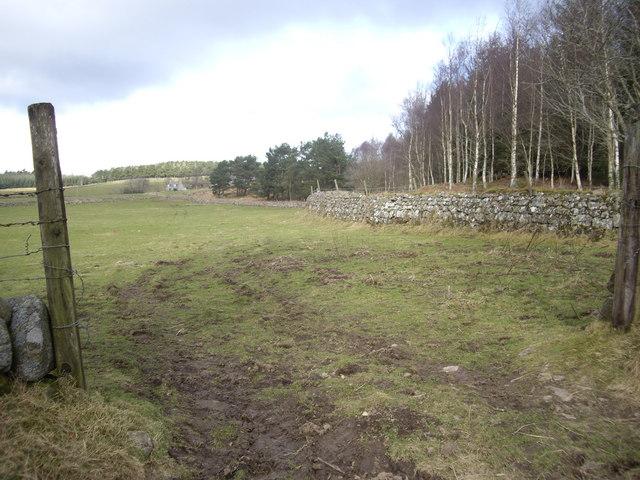 View towards Minew farmhouse