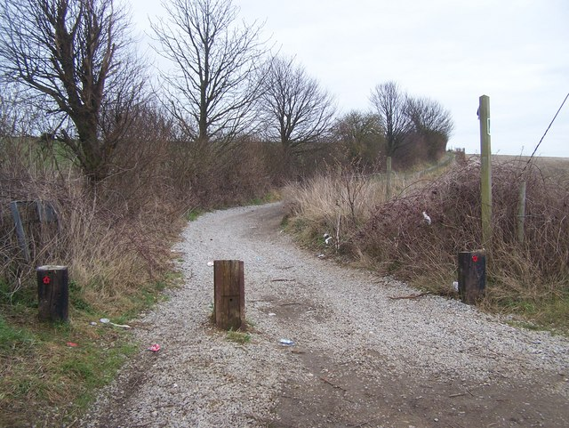 North Downs Way goes on trackway