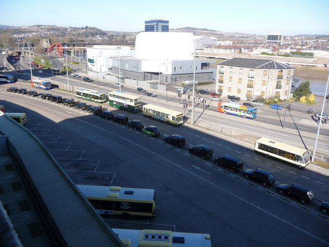 Newport: taxis in the bus station
