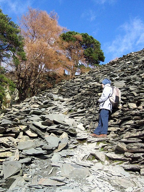 Footpath up Castle Crag
