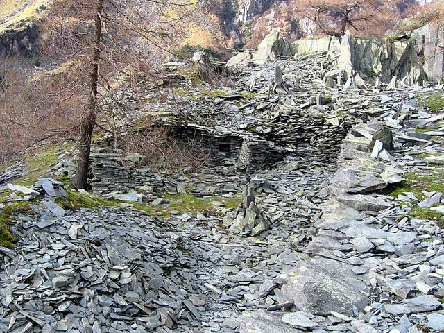 Disused quarry on Castle Crag