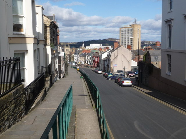 Newport: looking down Stow Hill