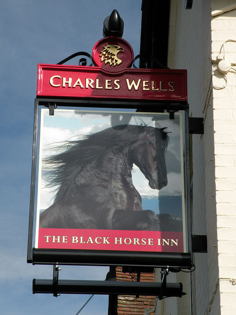 Sign of The Black Horse Inn