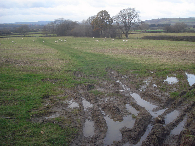 Site of the glacial lake at Leinthall Moor