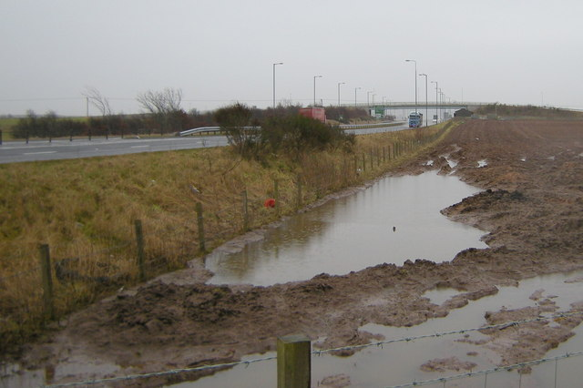 View of Forfar / Kirriemuir Flyover on the A90 Dual Carriageway
