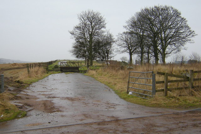 View of the old route of the Kirriemuir / Forfar Road