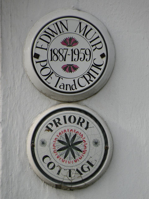 Plaques on Priory Cottage