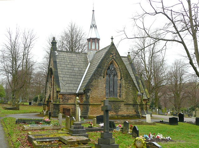 The chapel in Sowerby Bridge Cemetery
