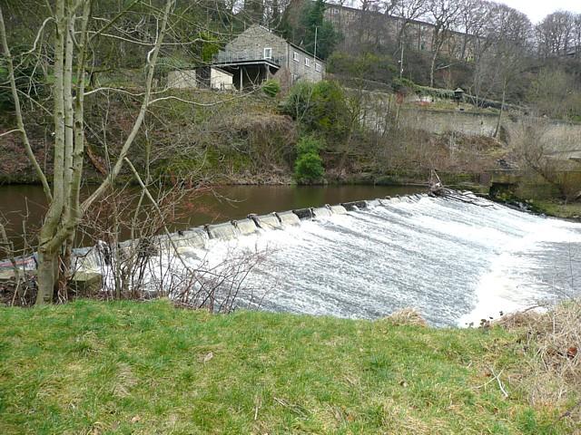 Weir on the River Calder, Sowerby Bridge