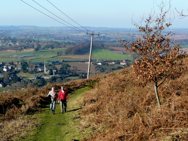 Walking up Coppet Hill