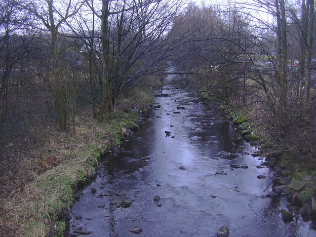 River Hyndburn at Church Bridge