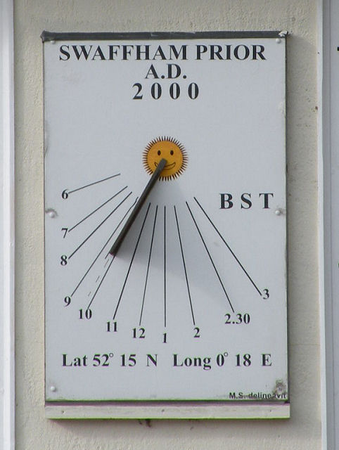 Sundial on Swaffham Prior school