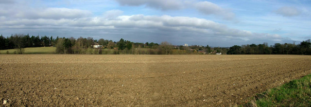 Panorama of Bury St. Edmunds from the west