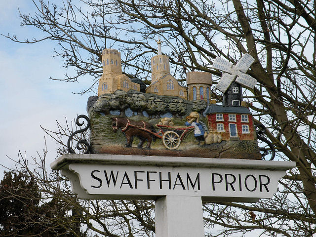 Swaffham Prior Village Sign
