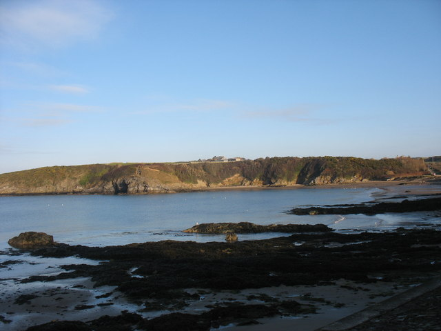 Traeth Mawr beach near high water