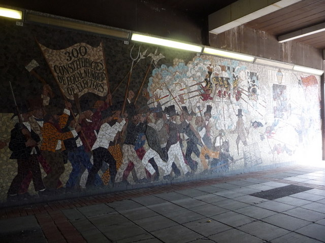 Newport newport chartists mural 2 chris downer for Chartist mural newport