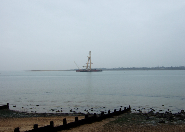 Construction barge, River Colne estuary