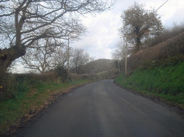 Lane east of Leinthall Starkes