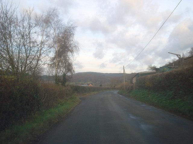 Lane near Leinthall Common