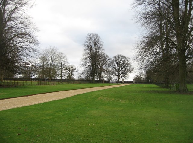 The main driveway - The Vyne