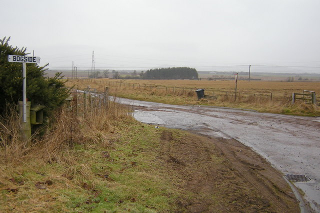 View of Road leading to Bogside Farm