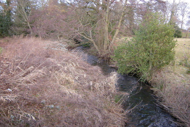 View of Kettins Burn looking downstream