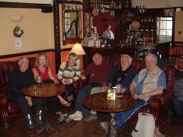 Walk's end at the Aber Falls Pub, Abergwyngregyn