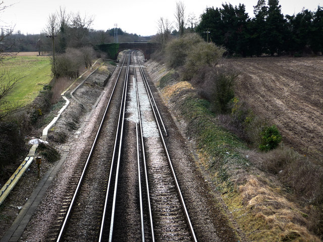Looking east from Mill Lane bridge