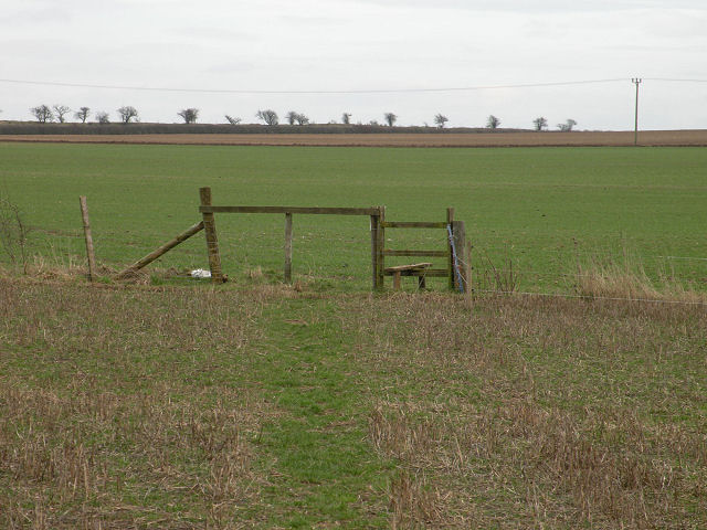 Stile on footpath to Devil's Dyke