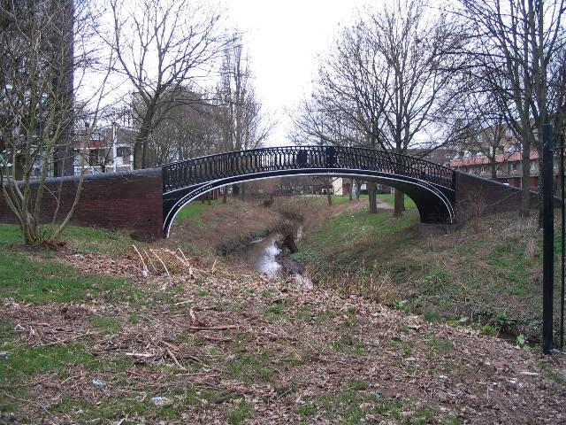 Former canal bridge near Meadow Street