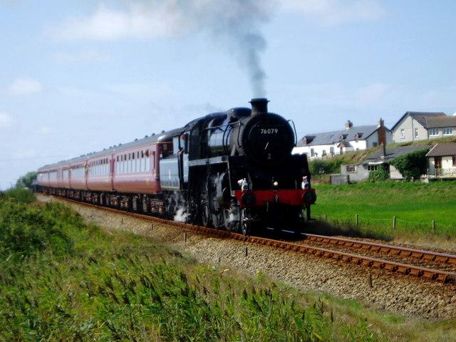 Steam Train on the Cambrian Coast Line