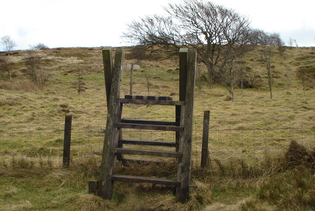 Stile on Witchcraig Hill