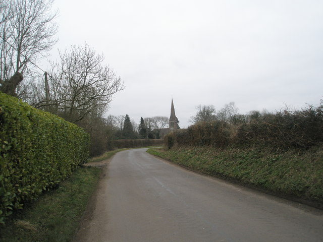 View from Church Lane down to  Holy Trinity